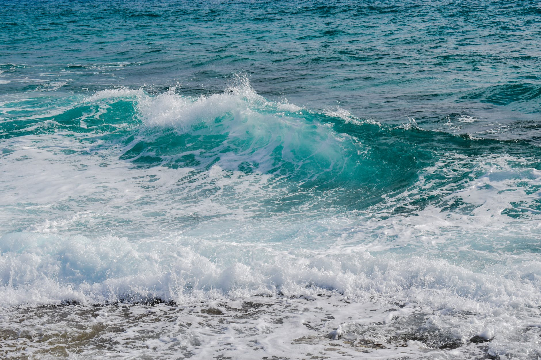 beach foam motion ocean